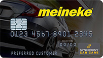 Meineke Credit Card Image
