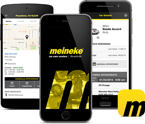 Meinake Car Care App Screenshots