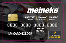 meineke credit card panel