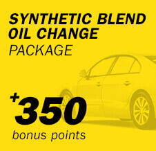 Synthetic Blend Oil Change Package +350 bonus points