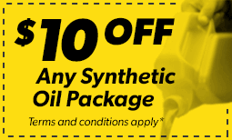 $10 Off Any Synthetic Oil Package Coupon