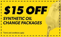 $15 Off Synthetic Oil Changes Packages Coupon