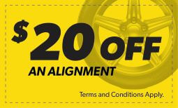 $20 Off An Alignment Coupon