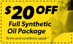 $20 Off Full Synthetic Oil Package Coupon