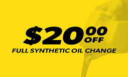 $20 Off Synthetic Oil Change Coupon