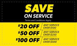 20% Save on Service Coupon