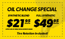 $21.95/$49.95 Oil Change Coupon
