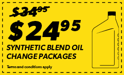 24.95 Synthetic Blend Oil Change Package Coupon