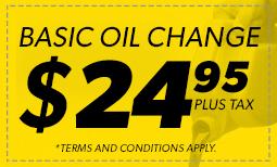 $24.95 Basic Oil Change Coupon