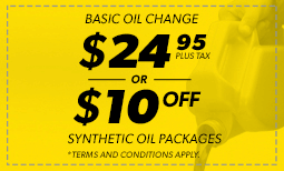 $24.95 Basic Oil, $10 Off Synthetic Coupon