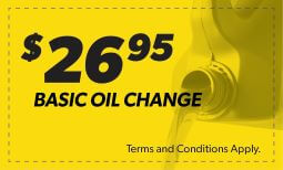 $26.95 Basic Oil Change Coupon