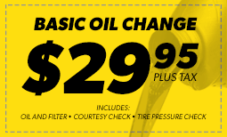 Basic Oil Change $29.95 Coupon