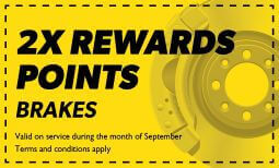 Double Rewards on Brakes Coupon