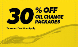 30% Off Oil Change Packages Coupon