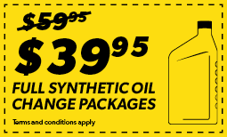 $39.95 Full Synthetic Oil Change Coupon