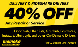 40% Off Repairs for Rideshare Coupon