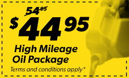 $44.95 High Mileage Package Coupon