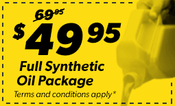 $49.95 Full Synthetic Package Coupon