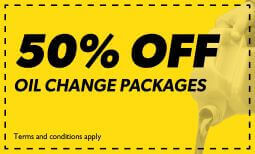 50% Off Oil Change Packages Coupon