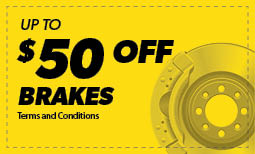 $50 off Brake Pads or Shoes Coupon