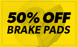 50% Off Brake Pads - Window 1 2019 Coupon