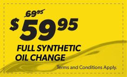 $59.95 Full Synthetic Oil Change Coupon