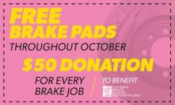 Free Brake Pads Coupon
