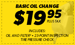 Basic Oil Change $19.95 Coupon