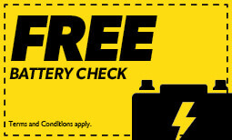 Free Battery Check Coupon