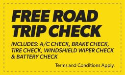 Free Road Trip Check Coupon