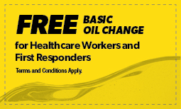 Free Basic Oil Change for Healthcare Workers & First Responders Coupon