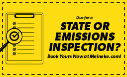 State Inspection with Emission Test Coupon