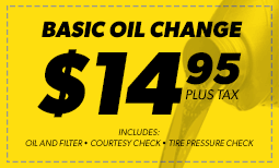 $14.95 Oil Change Coupon