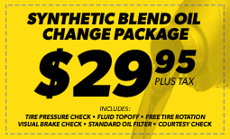 $29.95 Synthetic Blend Oil Change Coupon
