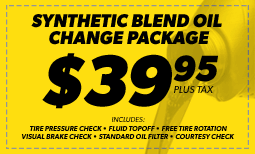 $39.95 Synthetic Blend Oil Change Coupon