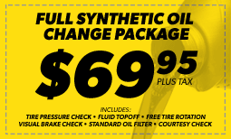 $69.95 Full Synthetic Oil Change Coupon
