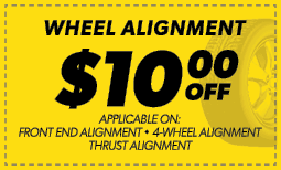 $10.00 Off Wheel Alignment Coupon