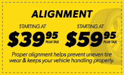 Alignments Starting at $39.95 & $59.95 Coupon