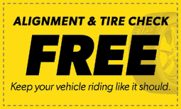 Free Alignment & Tire Check Coupon