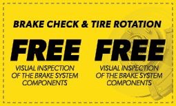 Free Brake Check & Tire Rotation Coupon