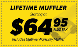 $64.95 Lifetime Muffler Coupon