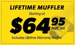 $64.95 Lifetime Muffler Coupon