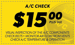 $15.00 A/C Check Coupon