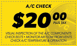 $20.00 A/C Check Coupon