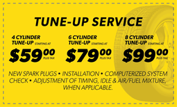 Tune Up Service - $59, $79, $99 Coupon