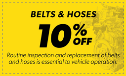 10% Off Belts & Hoses Coupon
