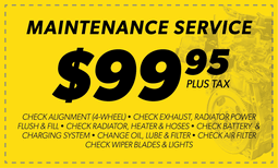 $99.95 Maintenance Service Coupon
