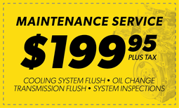 $199.95 Maintenance Service Coupon