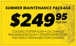 $249.95 Summer Maintenance Package Coupon