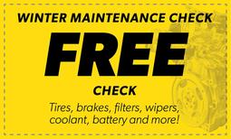 Free Winter Maintenance Check Coupon